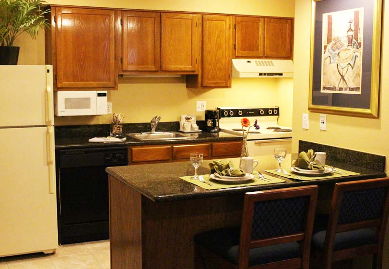 kitchenette in Bayview Two Bedroom King Suites of Chase Suite Hotel Tampa